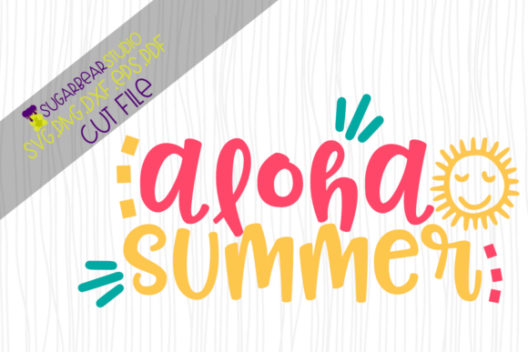 Aloha Summer SVG Graphic Crafts By SugarBearStudio