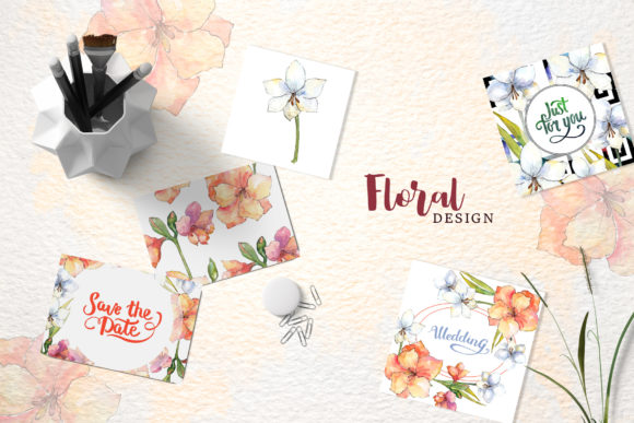 Print on Demand: Amaryllis Flowers Watercolor Png Graphic Illustrations By MyStocks - Image 4