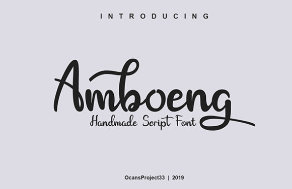 Print on Demand: Amboeng Script & Handwritten Font By OCS Studio