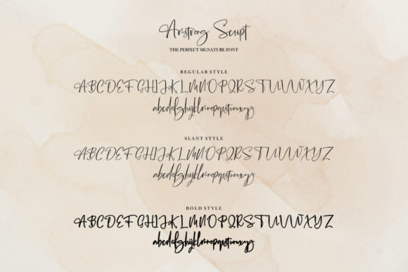Print on Demand: Amstrong Script Script & Handwritten Font By luckytype.font - Image 12