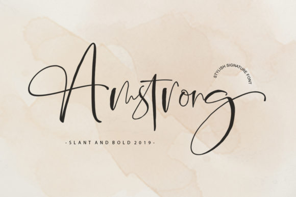 Print on Demand: Amstrong Script Script & Handwritten Font By luckytype.font - Image 1