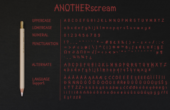 Print on Demand: Another Scream Display Font By OCS Studio - Image 2