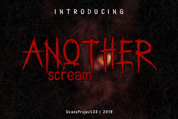 Print on Demand: Another Scream Display Font By OCS Studio