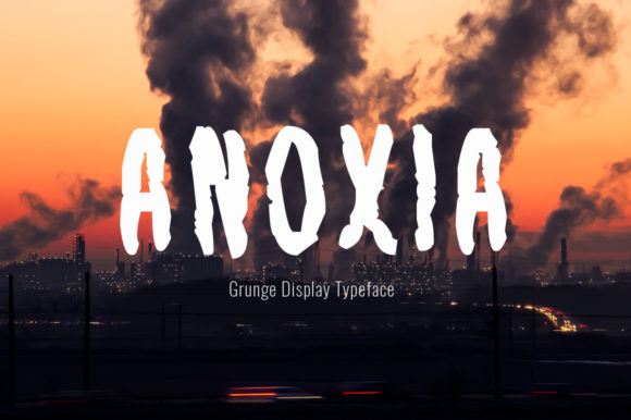 Print on Demand: Anoxia Display Fuente Por Spanking Fonts