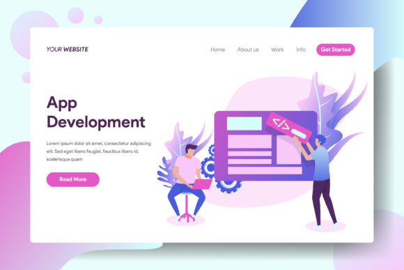 App Development Graphic Landing Page Templates By Twiri