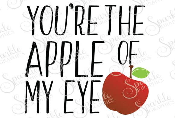 Download Free Apple Of My Eye Cut File Grafico Por Sparkle Graphics Creative for Cricut Explore, Silhouette and other cutting machines.