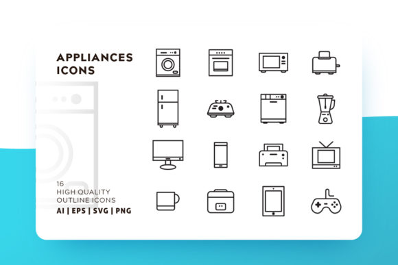 Appliances Icon Pack Graphic Icons By Goodware.Std