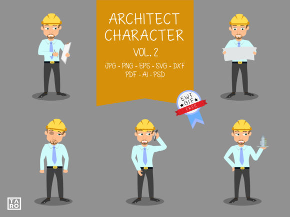 Download Free Architect Worker Characters Graphic By Taro Creative Creative SVG Cut Files