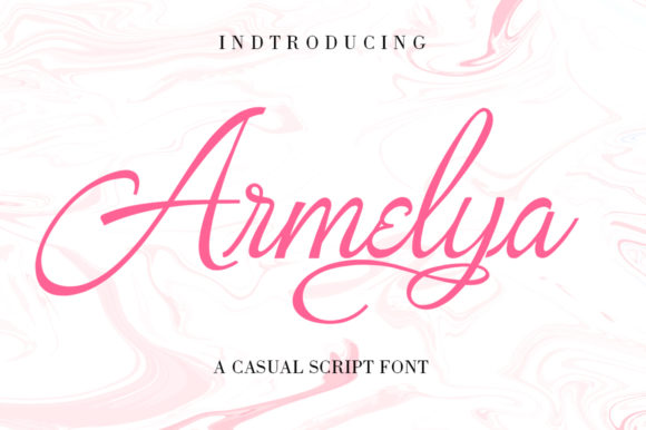 Print on Demand: Armelya Script & Handwritten Font By ayeelastudio
