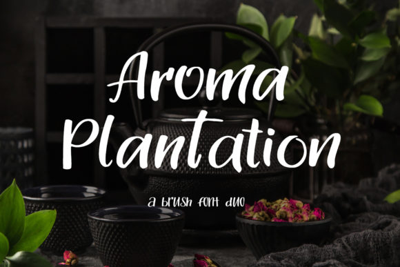 Print on Demand: Aroma Plantation Duo Script & Handwritten Font By tregubova.jul - Image 1