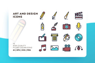 Print on Demand: Art & Design Filled Icon Pack Graphic Icons By Goodware.Std