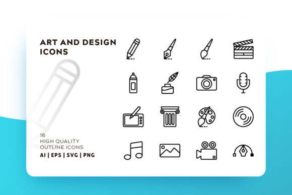 Art & Design Icon Pack Gráfico Iconos Por Goodware.Std