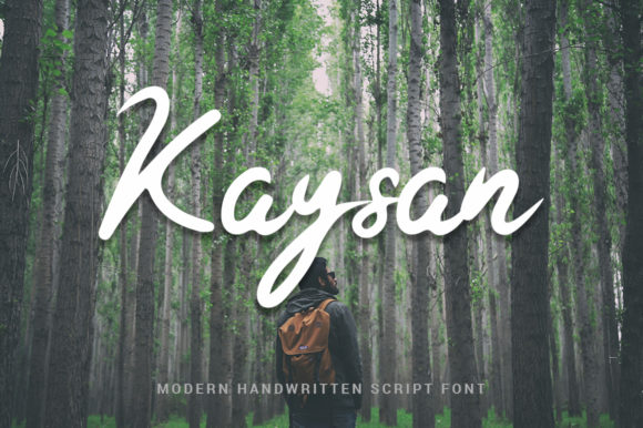 Print on Demand: Kaysan Script & Handwritten Font By ibeydesign