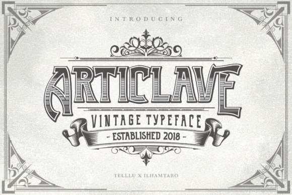 Print on Demand: Articlave Display Font By Telllu