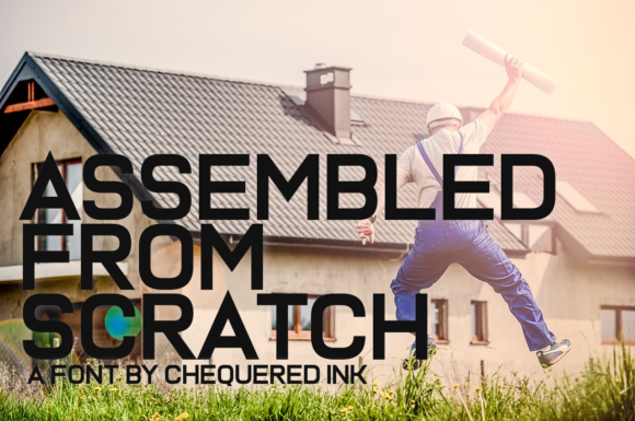 Print on Demand: Assembled from Scratch Display Font By Chequered Ink