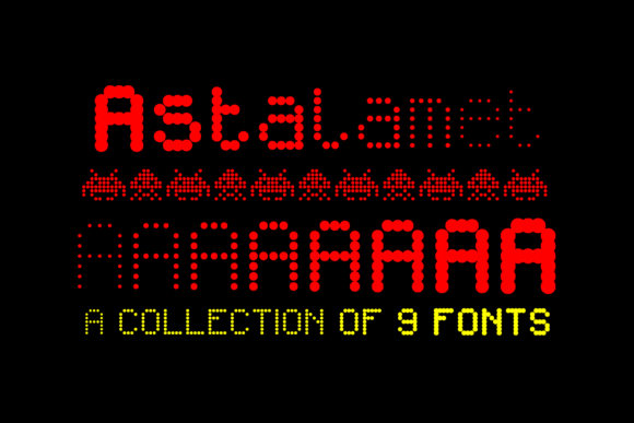 Print on Demand: Astalamet Family Display Font By grin3