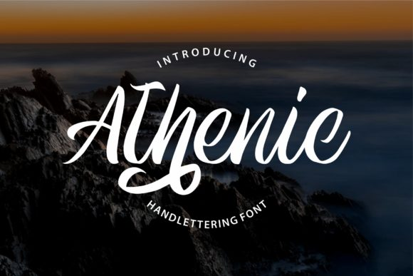 Print on Demand: Athenic Script & Handwritten Font By goodjavastudio