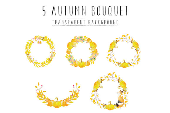 Print on Demand: Aurelia Autumn Bouquet Clip Art Graphic Illustrations By Nomad Hustler