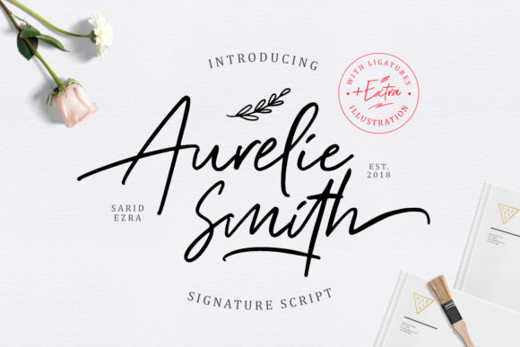 Aurelie Smith Script & Handwritten Font By saridezra
