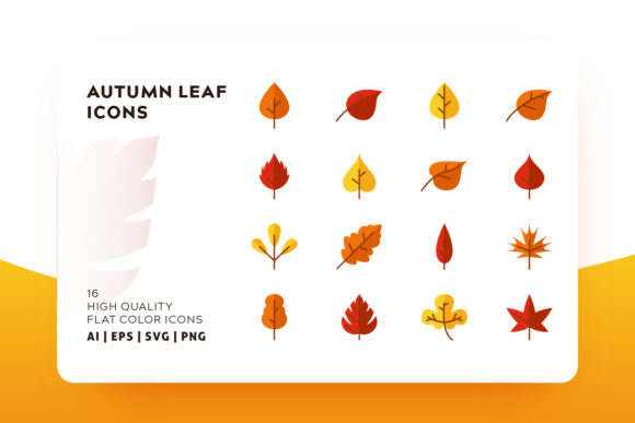 Print on Demand: Autumn Leaf Icon Pack Graphic Icons By Goodware.Std - Image 1