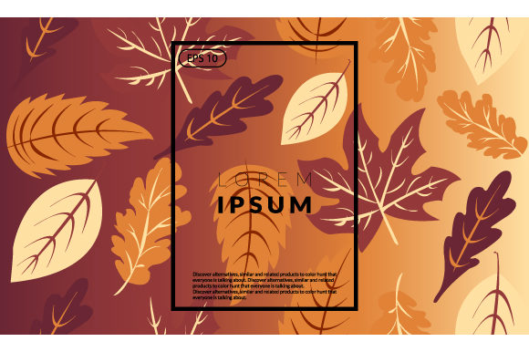Autumn Geometric Background Graphic By iop_micro