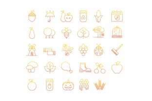Download Free Autumn Gradient Icons Set Graphic By Iconika Creative Fabrica for Cricut Explore, Silhouette and other cutting machines.