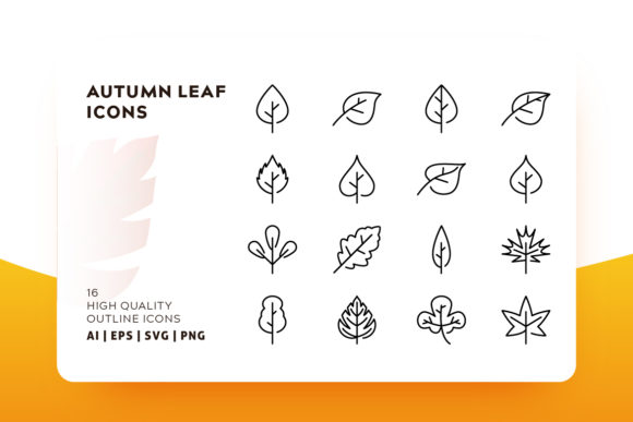 Autumn Leafs Icon Pack Graphic Icons By Goodware.Std - Image 1