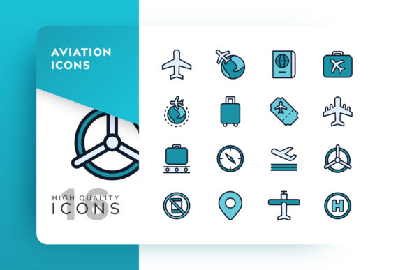 Aviation Icon Pack Graphic Free Download