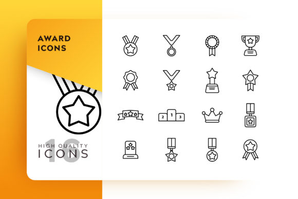 Download Free Award Adventure Icon Pack Graphic By Goodware Std Creative Fabrica for Cricut Explore, Silhouette and other cutting machines.