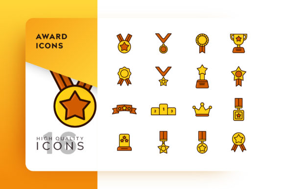 Award Icon Pack Graphic Free Download