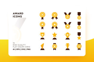 Download Free Award Icon Pack Graphic By Goodware Std Creative Fabrica for Cricut Explore, Silhouette and other cutting machines.