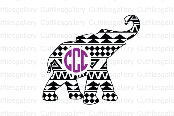 Download Free Aztec Elephant Graphic By Cutfilesgallery Creative Fabrica for Cricut Explore, Silhouette and other cutting machines.