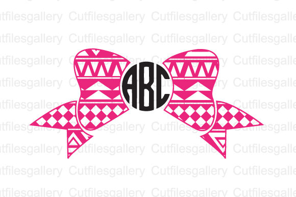Download Free Aztec Monogram Bow Svg Graphic By Cutfilesgallery Creative Fabrica for Cricut Explore, Silhouette and other cutting machines.