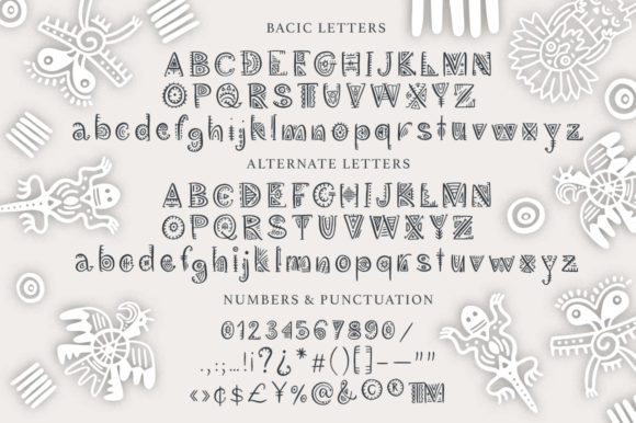 Print on Demand: Aztec Soul Display Font By Red Ink - Image 12
