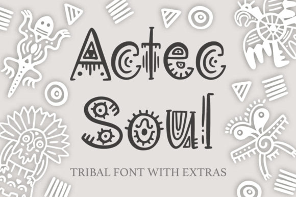 Aztec Soul Display Font By Red Ink