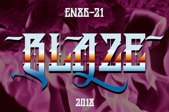 BLAZE Blackletter Font By EN86-21