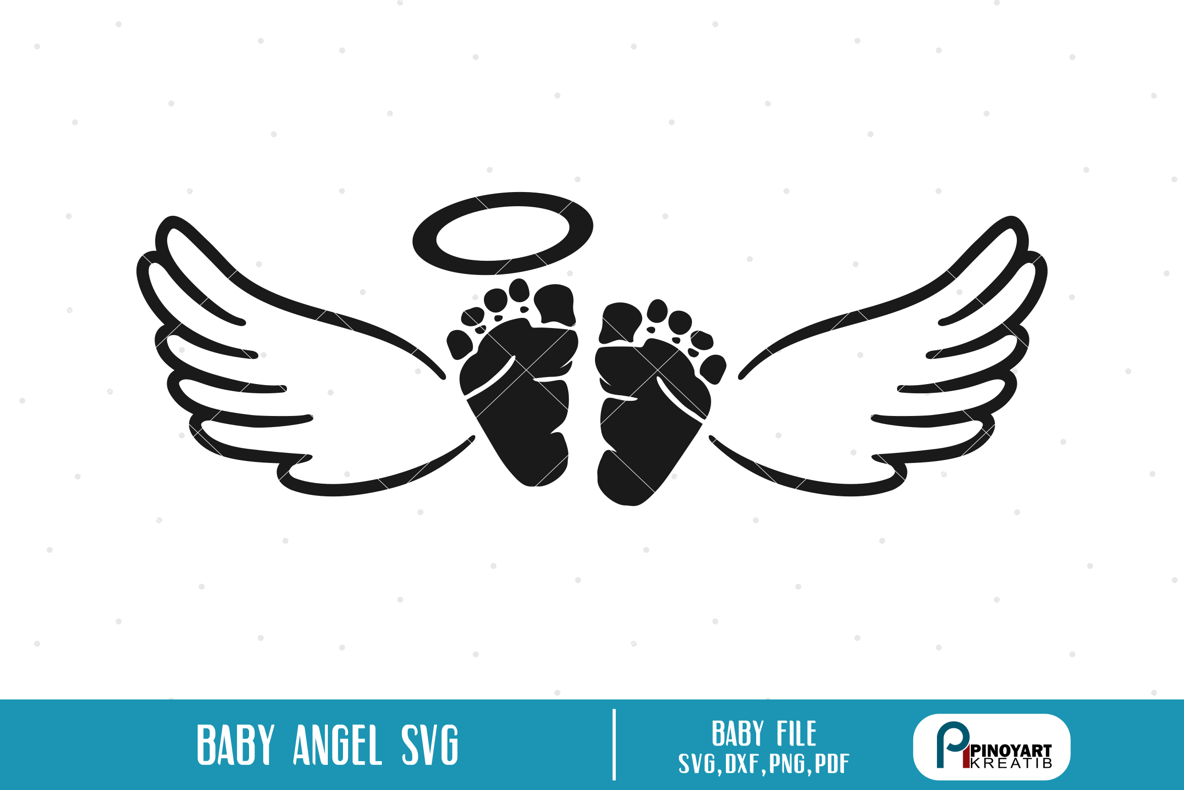 Download Free Baby Angel Graphic By Pinoyartkreatib Creative Fabrica for Cricut Explore, Silhouette and other cutting machines.