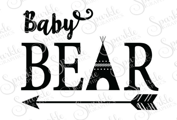 Download Free Baby Bear Teepee Cut File Graphic By Sparkle Graphics Creative for Cricut Explore, Silhouette and other cutting machines.