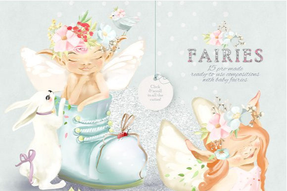 Baby Fairies Graphic By Anna Babich Image 2