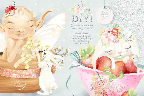 Baby Fairies Graphic By Anna Babich Image 3