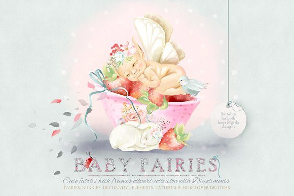 Baby Fairies Graphic By Anna Babich Image 1