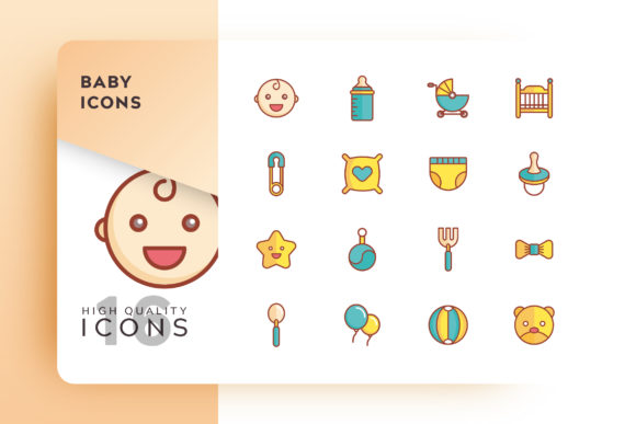 Baby Filled Icon Pack Graphic By Goodware.Std Image 1