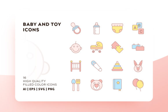 Baby Filled Icon Pack Graphic Icons By Goodware.Std