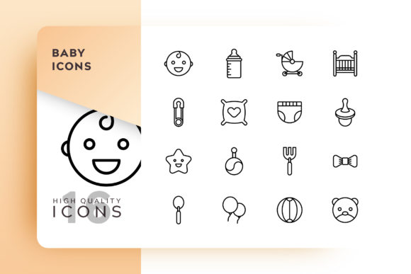 Download Free Baby Icon Pack Graphic By Goodware Std Creative Fabrica for Cricut Explore, Silhouette and other cutting machines.