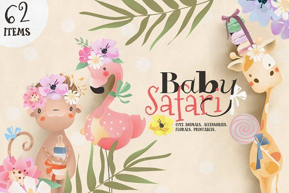 Print on Demand: Baby Safari Collection Graphic Illustrations By Anna Babich