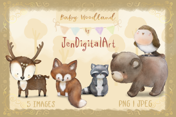 Baby Woodland Graphic By Jen Digital Art