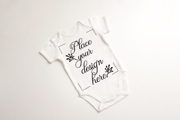 Print on Demand: Baby Suit Bodysuit Growsuit Mockup Graphic Product Mockups By Leo Flo Mockups - Image 1