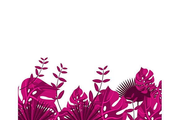 Download Free Background Tropical Leaves Graphic By Apple Creative Fabrica for Cricut Explore, Silhouette and other cutting machines.