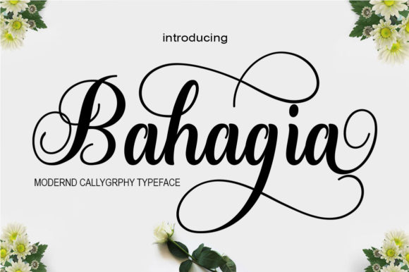 Print on Demand: Bahagia Script & Handwritten Font By saidi studio