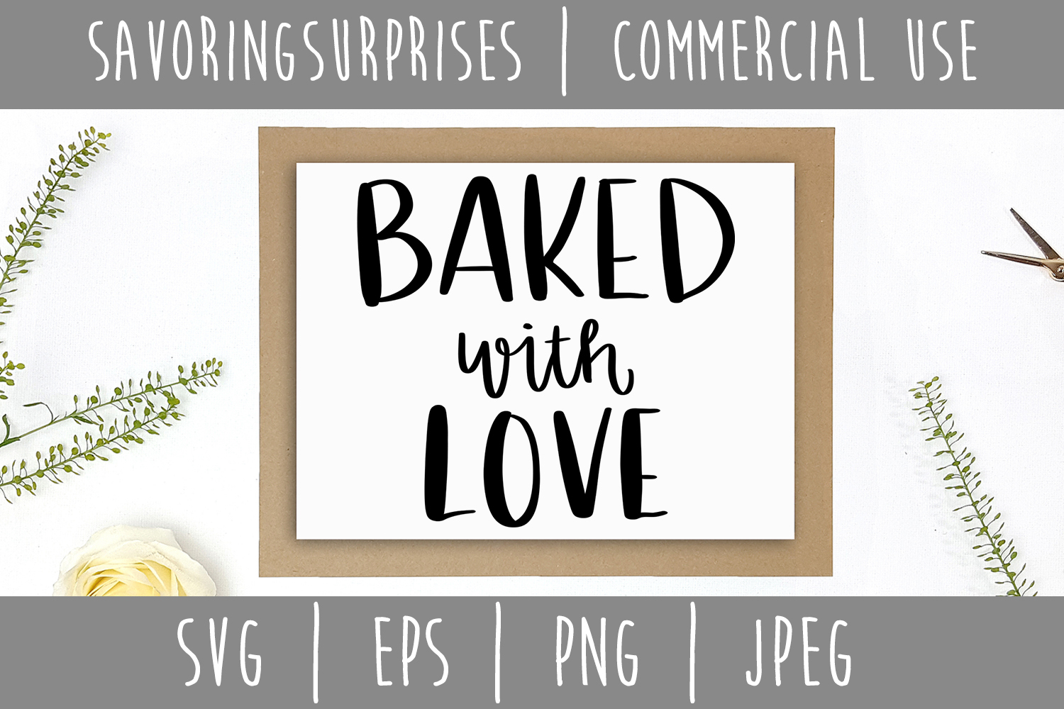 Download Free Baked With Love Svg Graphic By Savoringsurprises Creative Fabrica for Cricut Explore, Silhouette and other cutting machines.
